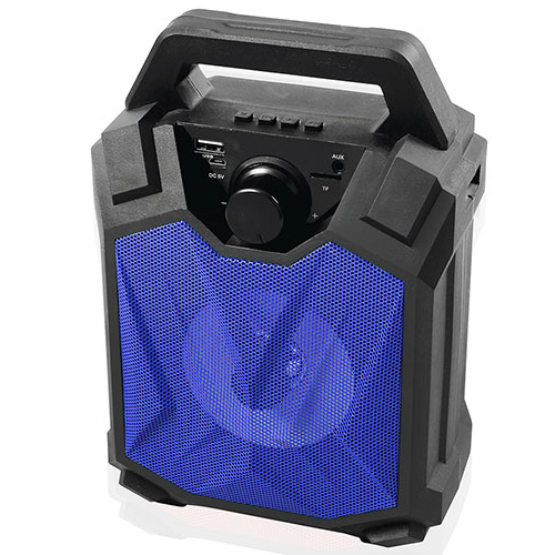 MIKADO MD-5BT X-Life 5W 1200mAh SD Cart USB+Bluetooth Siyah/Mavi Kablosuz MP3 Oynatıcı Hoparlör