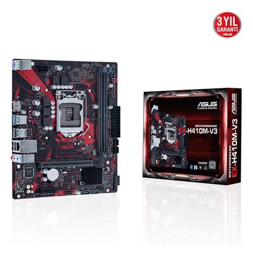 ASUS INTEL EX-H410M-V3 H410 DDR4 2933 HDMI GLAN SOKET 1200 mATX