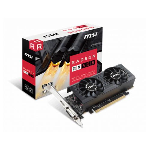 MSI AMD 4GB RX 550 LP OC DDR5 128 Bit HDMI DVI PCIE 16X V3.0