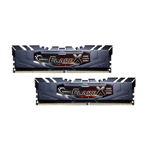 GSKILL Flare X 16GB (2x8GB) 3200Mhz DDR4 CL16 Pc Ram F4-3200C16D-16GFX (Ryzen Uyumlu) (1.35V)