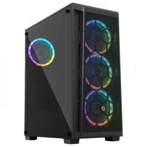 FRISBY FC-9375G 650W 80+ MESH ÖN PANEL Siyah 4x120mm RGB FANLI Mid Tower Gaming Kasa