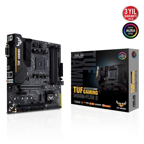 ASUS AMD TUF B450M-PLUS II GAMING DDR4 4400(OC) HDMI+DVD-D GLAN M.2 AM4 USB 3.2 Gen1, Gen2