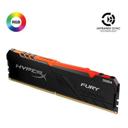 KINGSTON Hyperx Fury RGB 8GB 3600Mhz DDR4 Soğutuculu CL17 Pc Ram HX436C17FB3A/8
