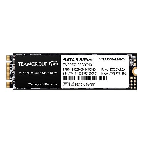 TEAM MS30 M.2 128GB SSD SATA3 6Gb/S TM8PS7128G0C101