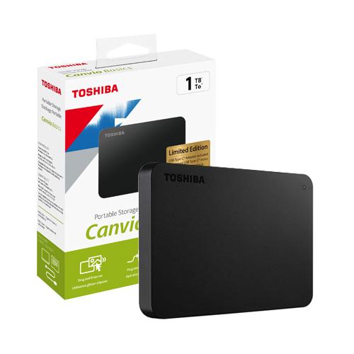 TOSHIBA 2.5 CANVIO BASIC 1TB USB3.2 GEN1 + TYPE-C ADAPTÖR Harici Disk SİYAH HDTB410EK3AB