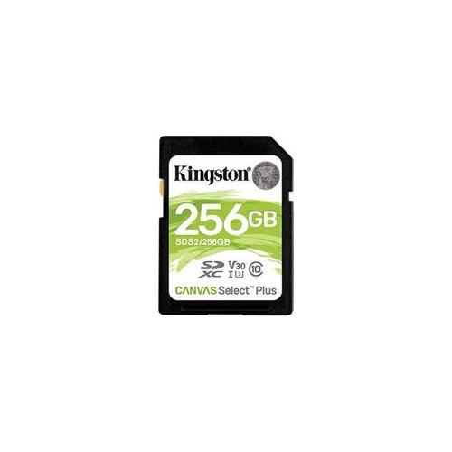 KINGSTON 256GB Canvas Select Plus 100R SDHC Class10 UHS-I-U1-V10