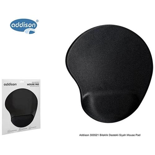 ADDISON 300521 Siyah MOUSE PAD Bilek Destekli