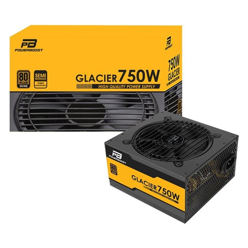 POWERBOOST GLACıER BST-ATX750B 750W 80+ Bronze Atx Power Supply Kutulu