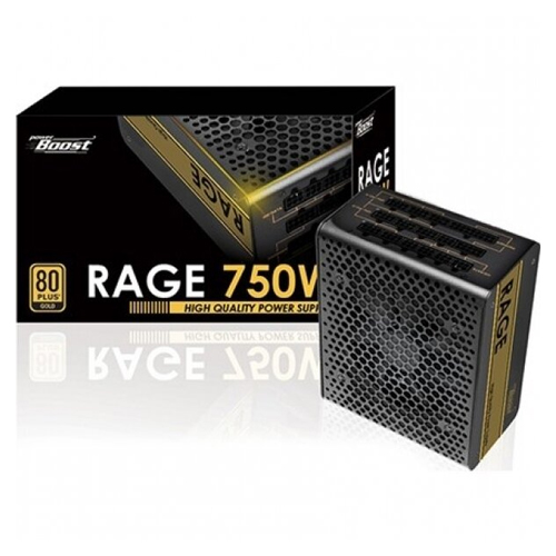 POWERBOOST RAGE BST-ATX750G 750w 80+ Gold Atx Power Supply 12 Cm Fan Full Modular Power Supply
