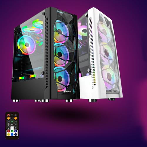 OEM Gaming Plus Black i3 8GB 240GB SSD RX580 4GB FDOS Gaming Kasa (Gaming Klavye+Gaming Mouse)