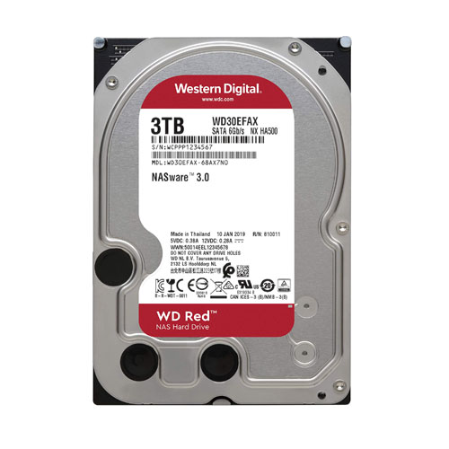 WD 3.5 RED 3TB 5400RPM 256MB SATA3 NAS HDD WD30EFAX (7/24)