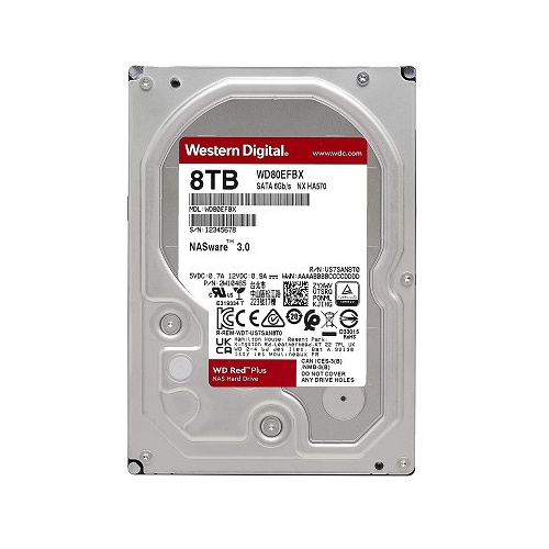 WD 3.5 RED PLUS 8TB 5400RPM 256MB SATA3 NAS HDD WD80EFBX (7/24)