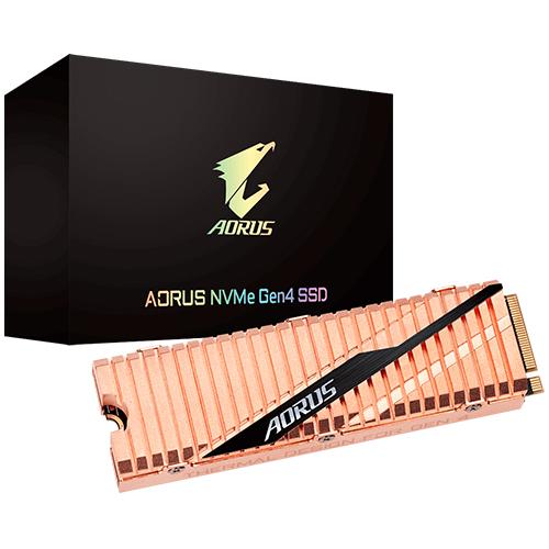 GIGABYTE AORUS GEN4 M.2 1TB SSD PCI-Express 4.0x4, NVMe 1.3 5000/4400 GP-ASM2NE6100TTTD BAKIR SOĞUTMA