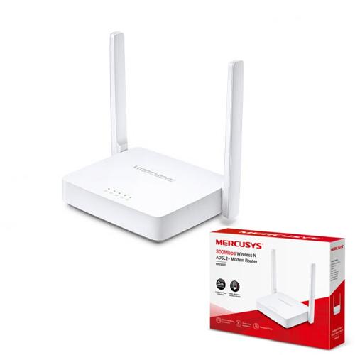 MERCUSYS MW300D 300Mbps 3 Port Kablosuz-Ethernet ADSL2+ N Modem Router