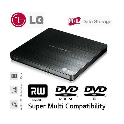 LG GP60NB50 8X DVD-RW Siyah Taşınabilir Slim USB DVD Yazıcı