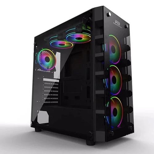 Power Boost X59RGB JBST-X59RGB-650 650W 80+ Tempered Glass 6 x RGB Fanlı Gaming Kasa