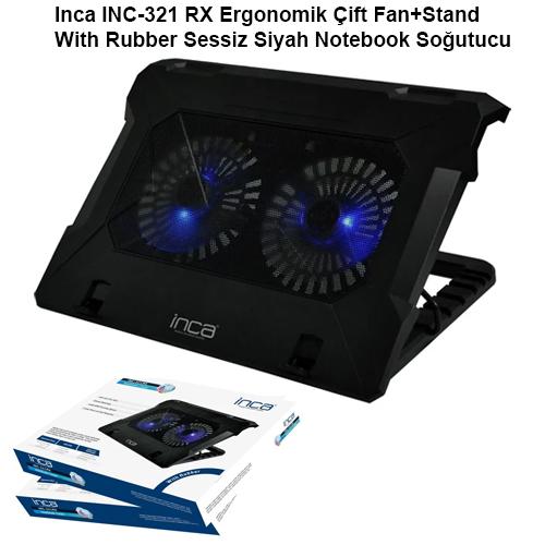 INCA INC-321RX 13 - 17 ÇIFT USB ABS PLASTIK Siyah STAND+SOĞUTUCU