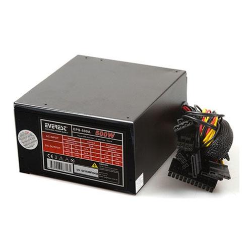 EVEREST EPS-500A 500W Oyuncu PC Destekli 12 Cm Fan Power Supply