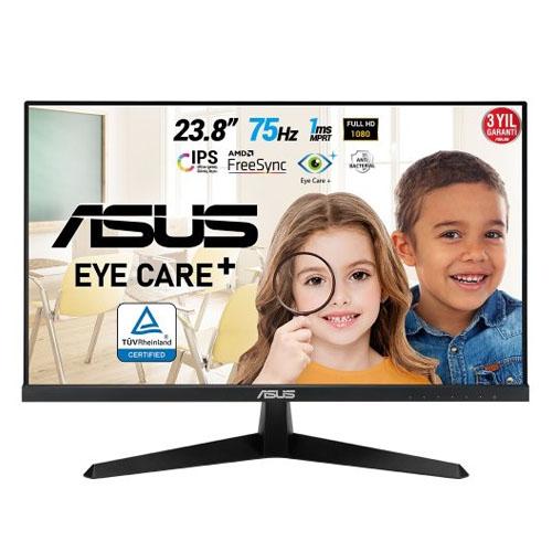 ASUS 23,8 VY249HE ÇERÇEVESİZ IPS LED 1Ms 75Hz D-SUB,HDMI Gaming Monitör