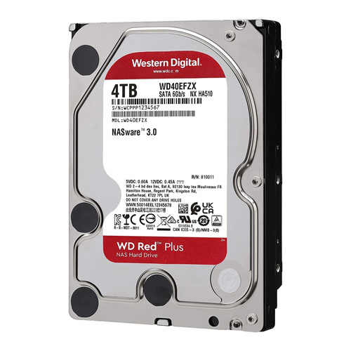WD 3.5 RED 4TB 5400RPM 128MB SATA3 NAS HDD WD40EFZX (7/24)