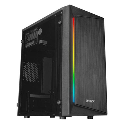 EVEREST BLAZON 250W PEAK RGB Led Şeritli SIYAH Akrilik Yan Panel Gaming Oyuncu Kasası