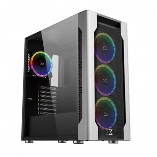 XIGMATEK COCKPIT EN44047 700W Mesh Panel  Tempered Camlı 4x12 CM Fanlı Gaming Oyuncu Kasası