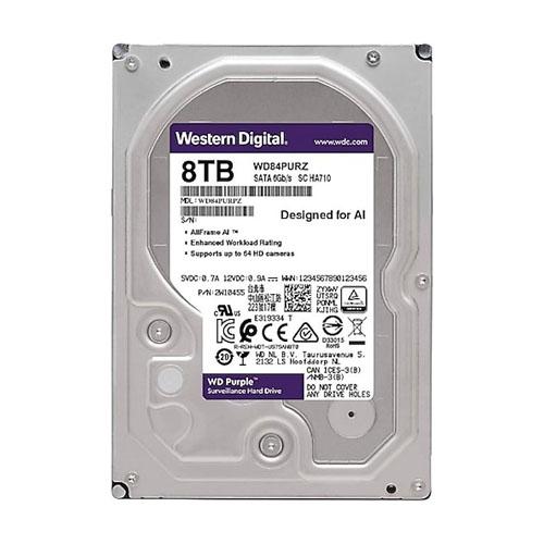 WD 3.5 PURPLE 8TB 128MB SATA3 Güvenlik HDD WD84PURZ (7/24)