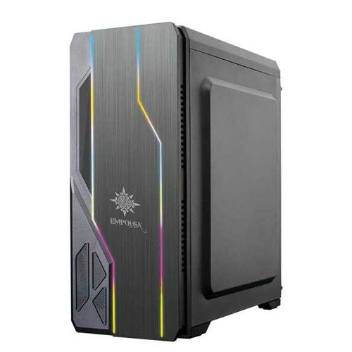 INCA EGM-13XN 750w 80+ USB 3.0 Tempered Glass 4 x Rainbow Fixed LED Fanlı Gaming Kasa