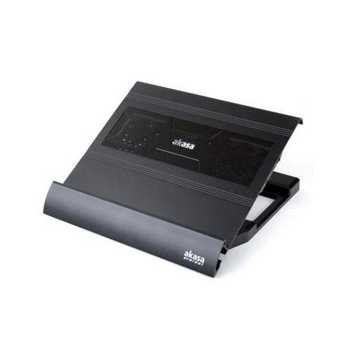 AKASA EVEREST NBC-09BK 12-15.6-17-18,4 Alüminyum Stant + 4 X Usb Port Notebook Soğutucu Siyah